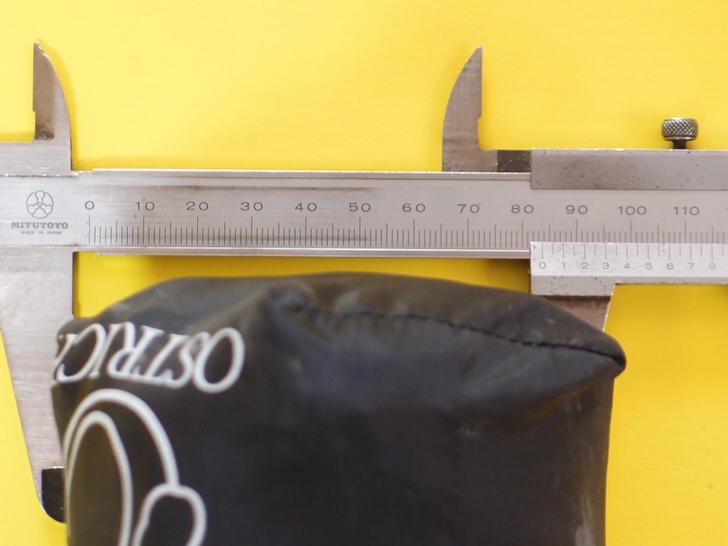 オーストリッチ輪行袋の直径