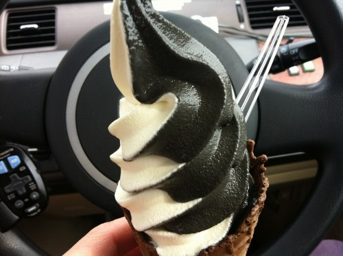 関越自動車道上り嵐山PAエスプレッソソフトクリーム