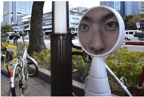 神戸目力で放置自転車防止