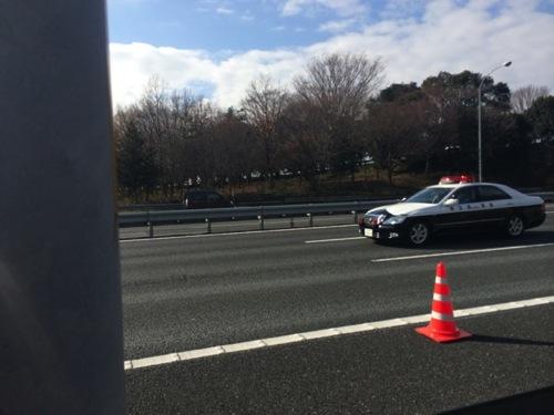 高速道路でのパンク