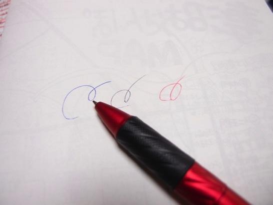 100均タッチペン付き3色ボールペン