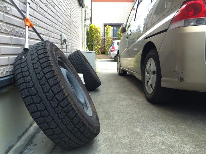 冬タイヤから夏タイヤへ交換してタイヤの位置情報をEVERNOTEへ控える