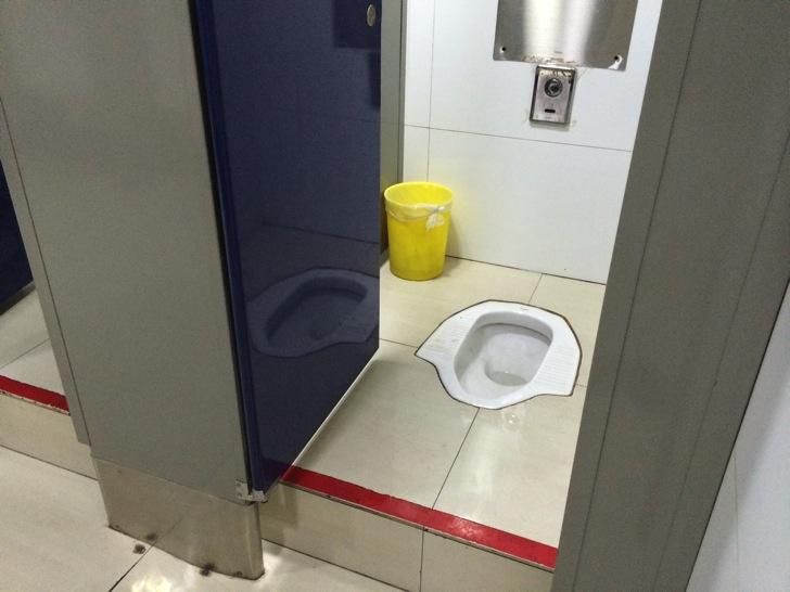 中国空港でのトイレ