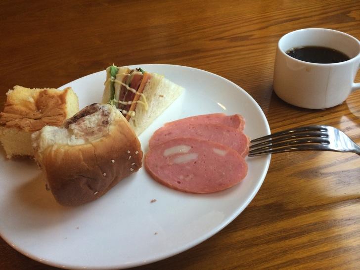 中国ホテルでの朝食ビュッフェ