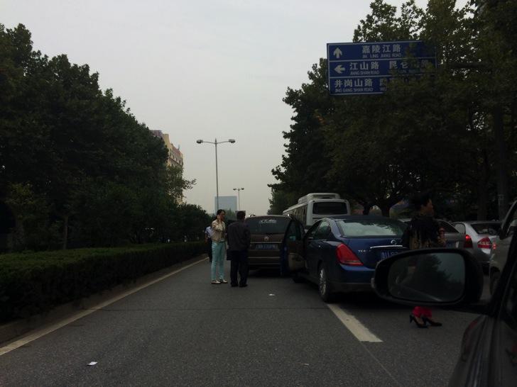 中国では珍しくない自動車事故