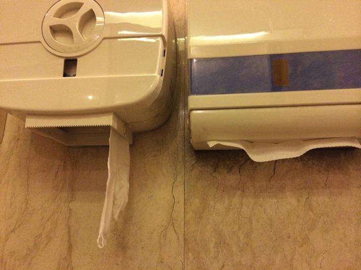 中国ホテルのトイレ