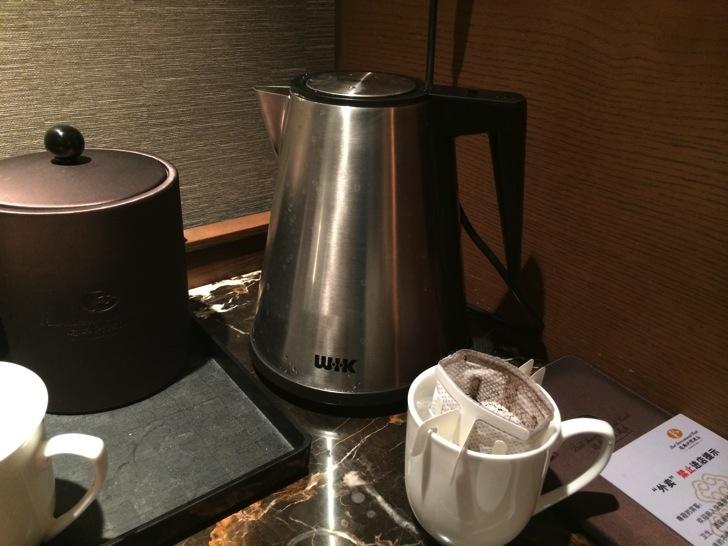 中国ホテルでコーヒー