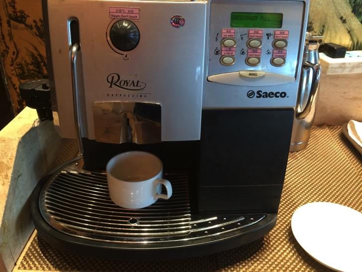 中国ホテルでの自動コーヒーメーカー