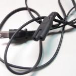 サンワサプライのバッテリーを充電するためのACケーブルを切断して短くして中間スイッチを割り込ませる