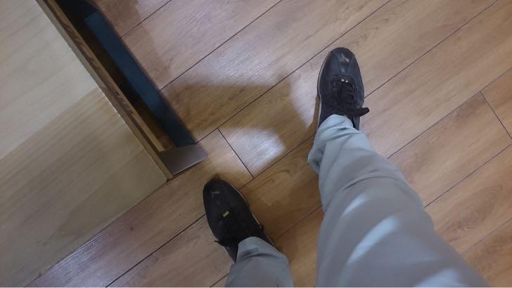 プーマのスニーカー捨てて新しい靴
