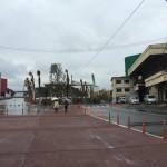 土砂降りの広島市