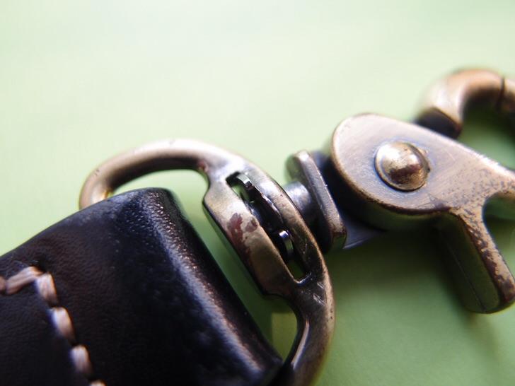 E型止め輪使用によるバッグ止め輪修理