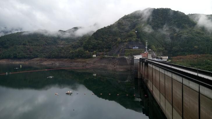 草木ダムの展望台