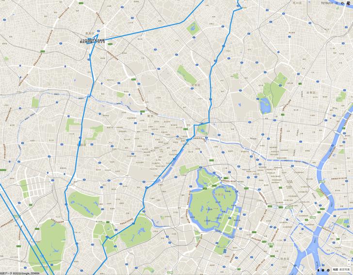 東京都内自転車で走ったログ