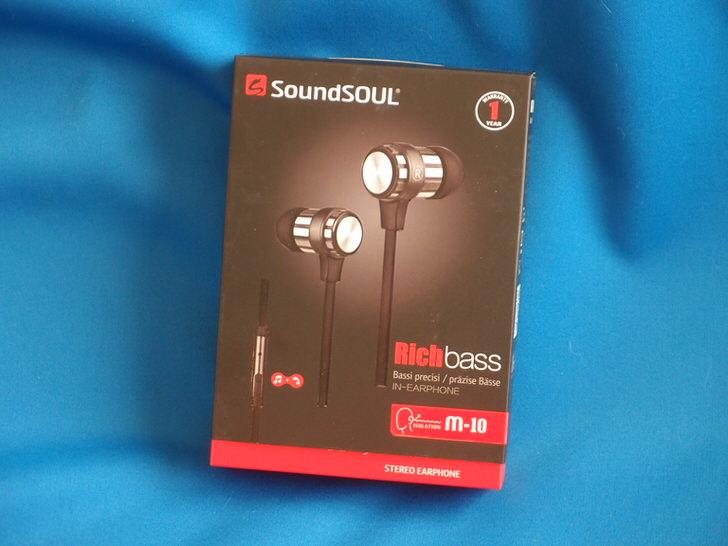 SoundSOUL(サウンドソウル) カナル型イヤホン 高音質 密閉型 ランニング イヤホン マイク付