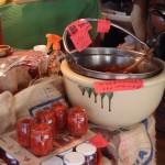 榛名神社前のお茶屋さんで売ってた手作りジャムは砂糖非使用だけど甘いわコケモモクコやまぶどう入り