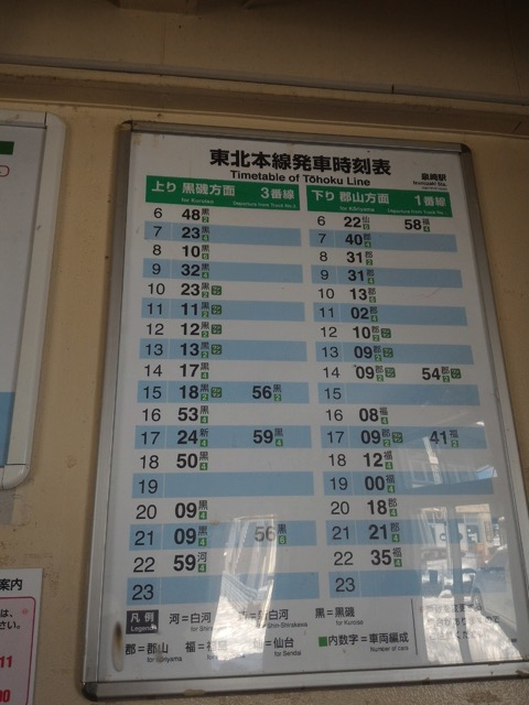 時間帯によっては電車来ない泉崎駅