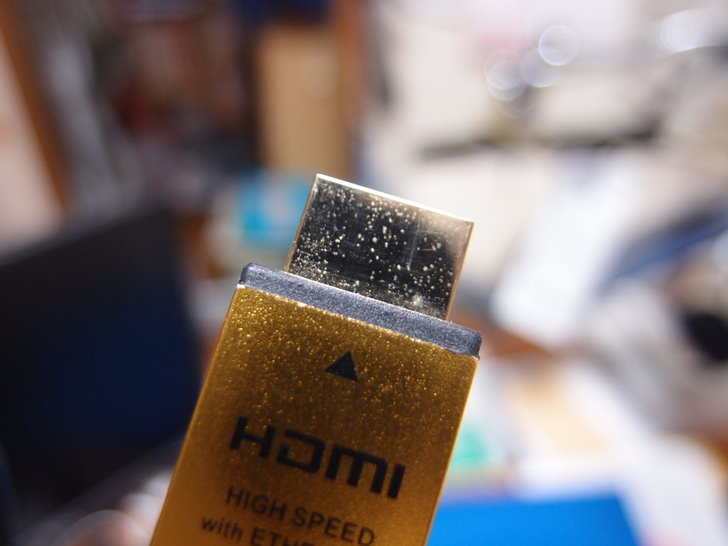 HDMIケーブルで画質改善