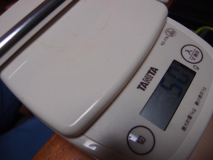 ブロンプトンSバッグキャリアフレームパイプの重さ