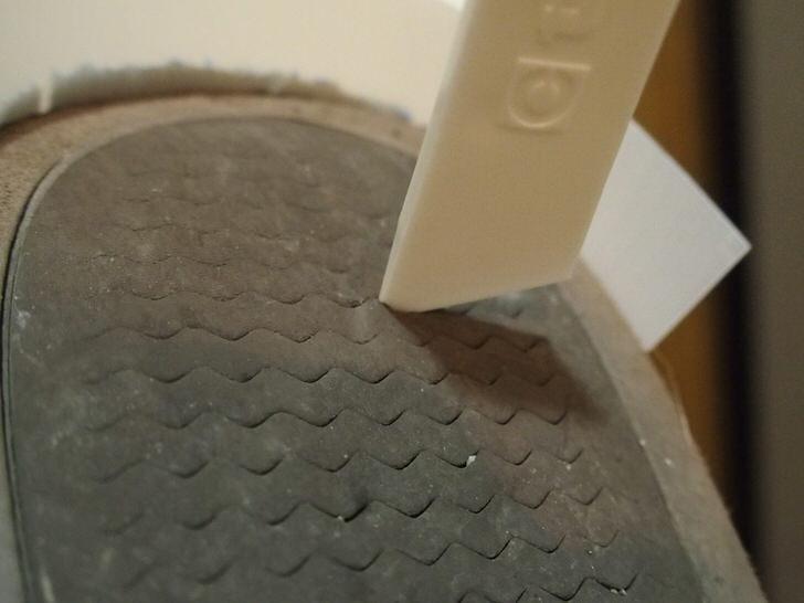 靴のかかと補修