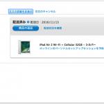 モバイルに目覚めた母に代わってiPad Air2 32GB Cellularモデルを購入する