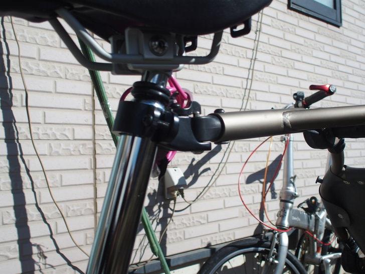 ブロンプトンにサイクルトレーラー繋げる