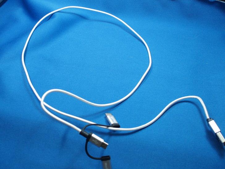 1本3役のUSB通信充電ケーブル