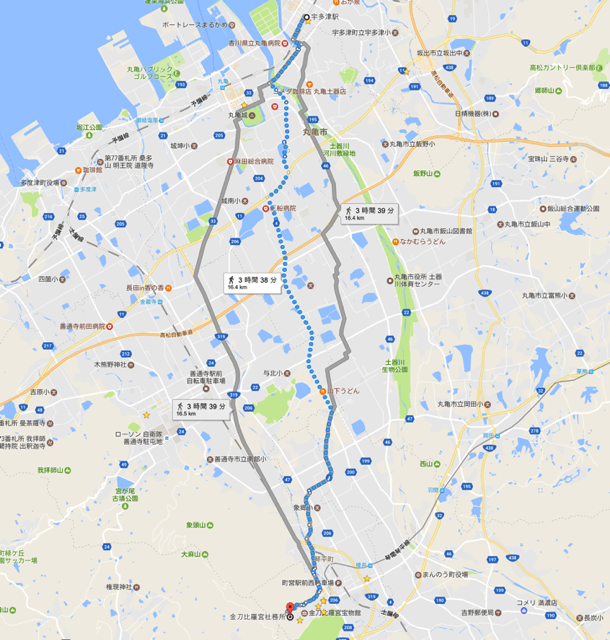 宇多津駅から象頭山