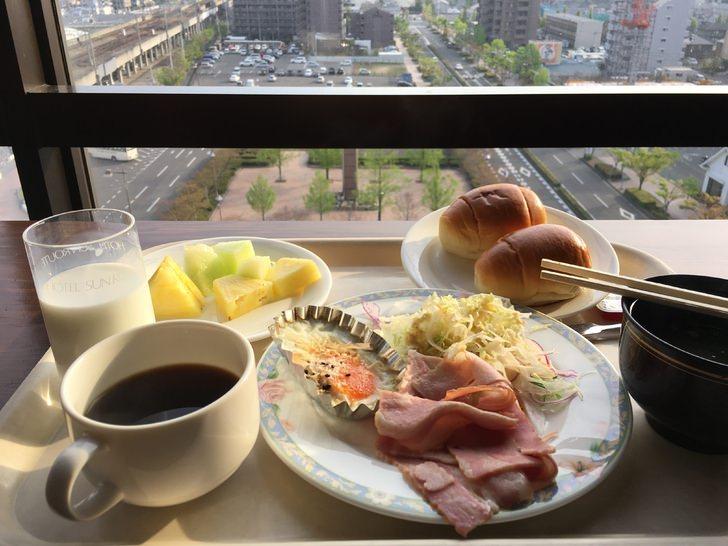 ホテルサンルート瀬戸大橋の朝食ビュッフェ
