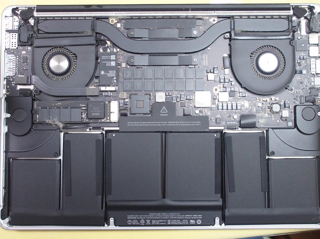 MacBook Proを分解して掃除