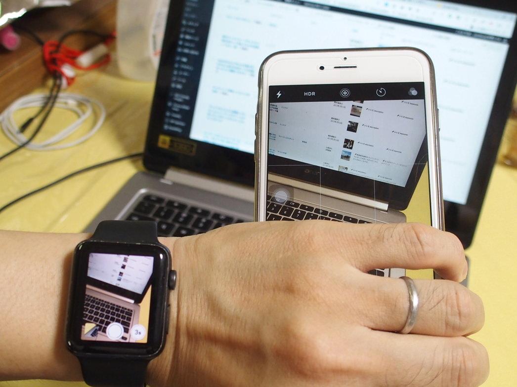 AppleWatchとiPhoneで自分の坊主頭をつぶさに確認