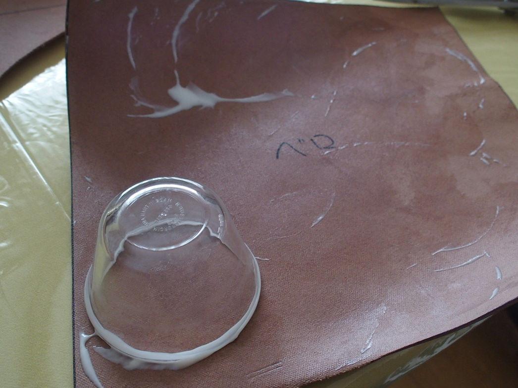 ガラスコップでトコノール