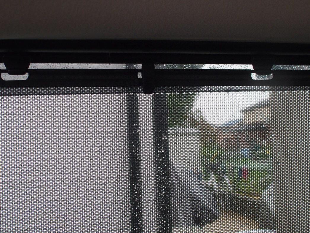 後部座席窓のサンシェード