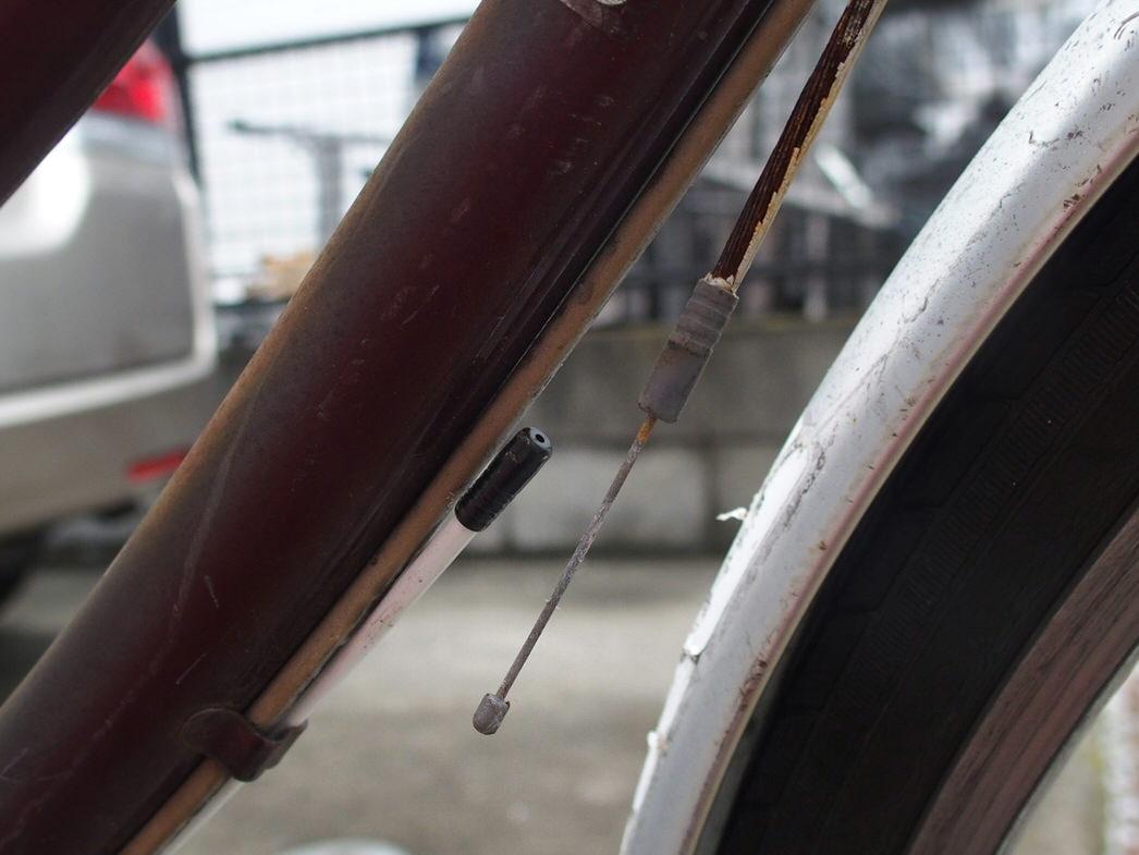 ママチャリの内装三段シフトケーブル補修