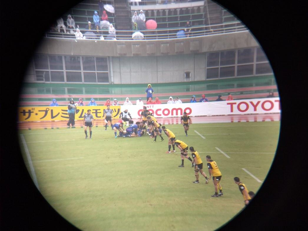 熊谷ラグビー場にておもてなしシート楽しむ