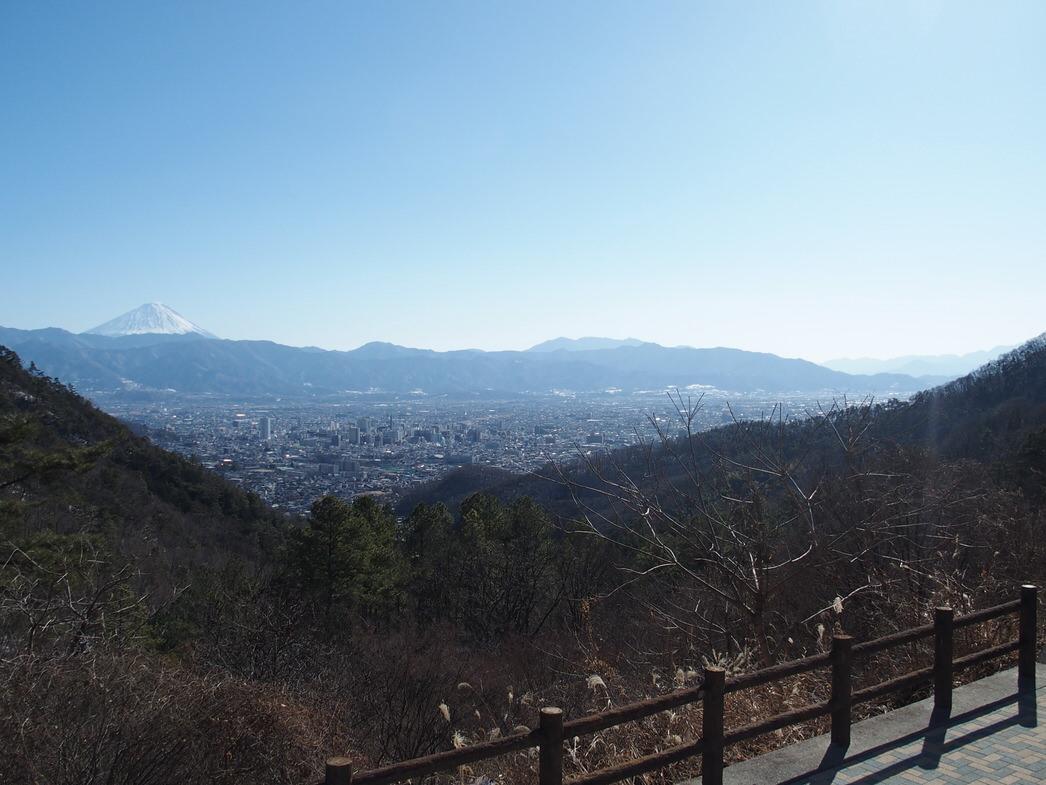 甲府市で富士山が良く見える場所