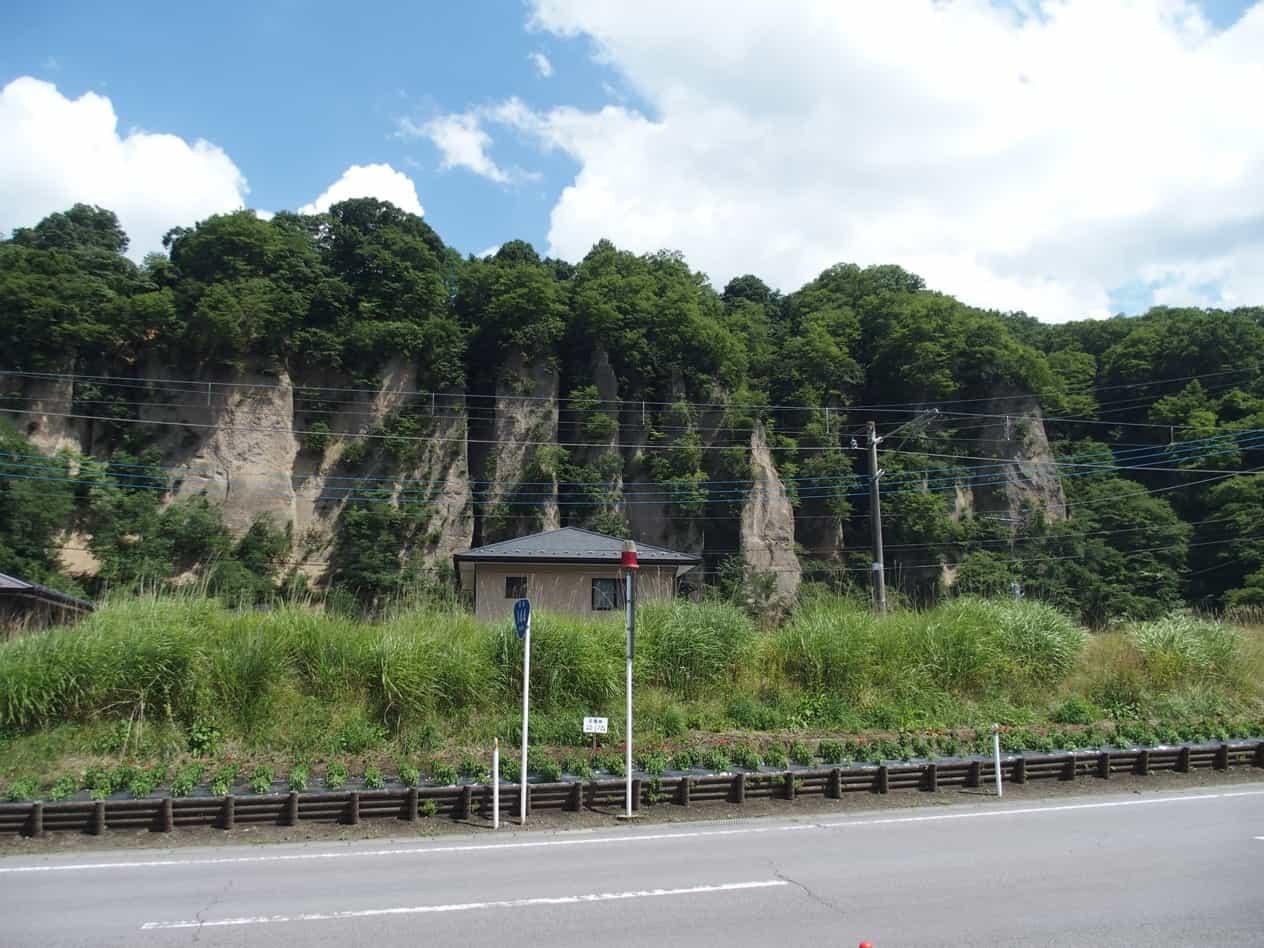 吾妻川の崖