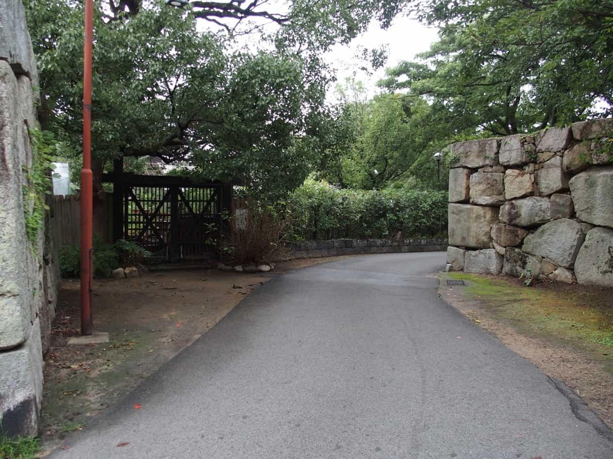 萩城跡の虎口