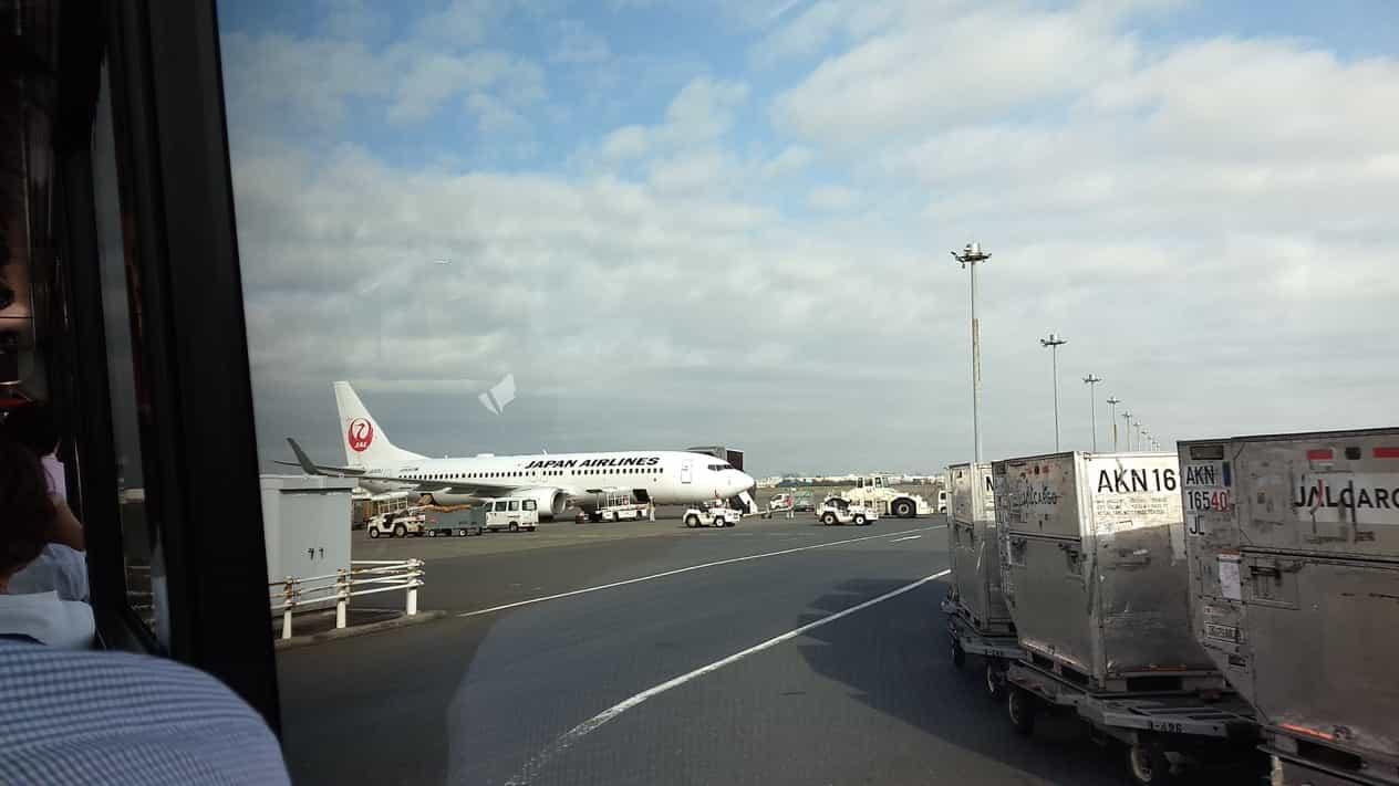 羽田空港飛行機乗り場