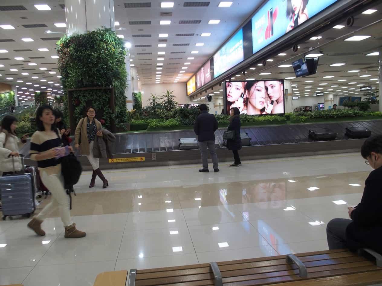 金浦空港にて