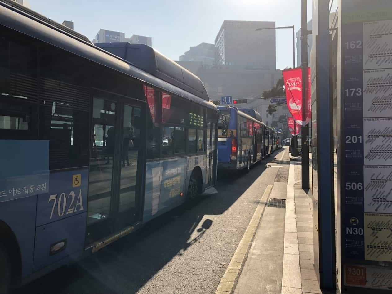 韓国のバス網