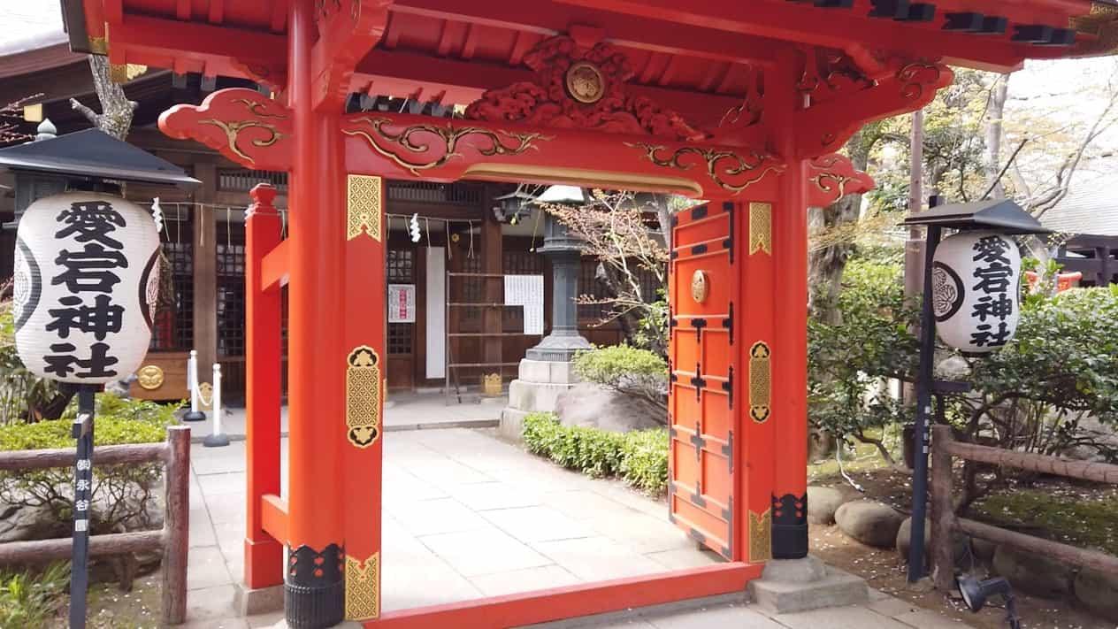愛宕神社の桜門
