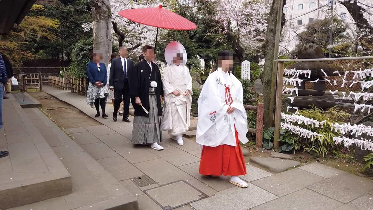 愛宕神社での結婚式