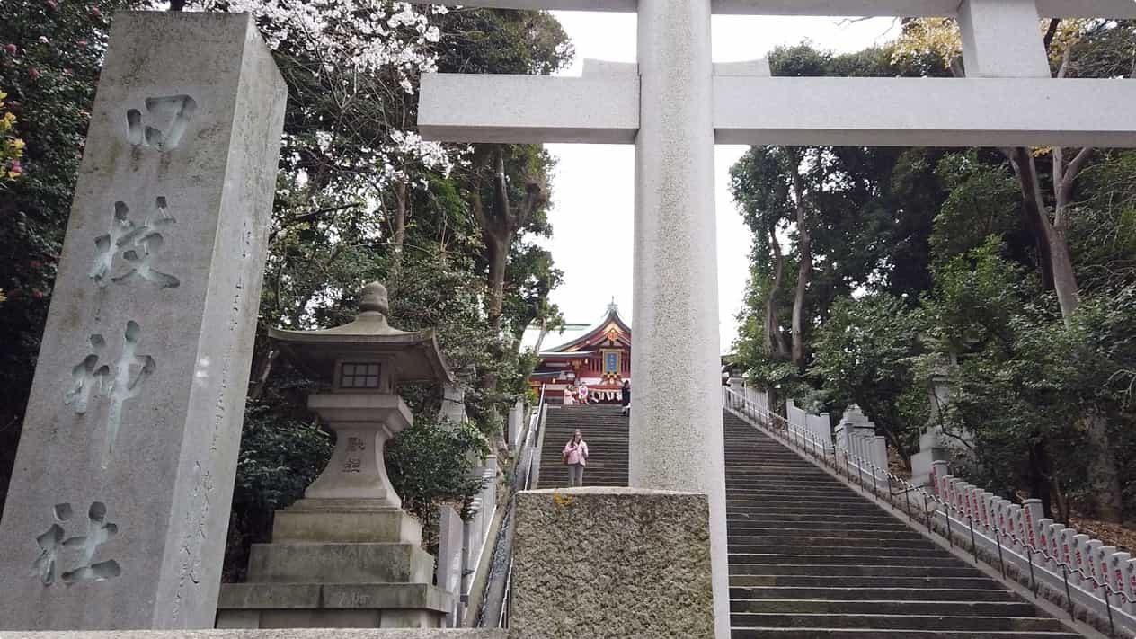 東京永田町日枝神社階段