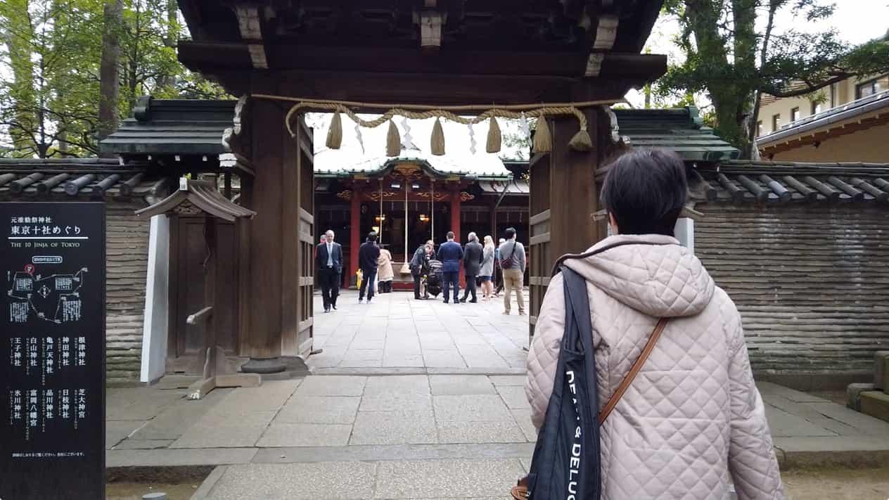 赤坂氷川神社桜門