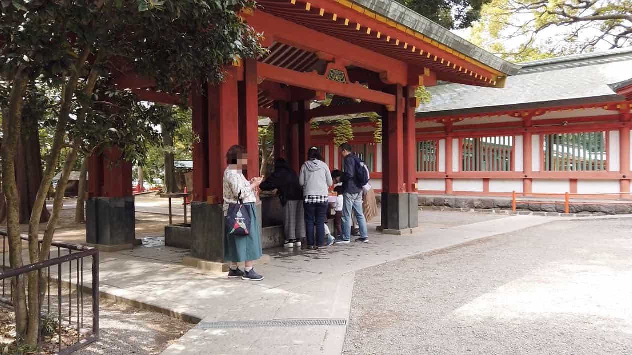 武蔵一宮氷川神社手水舎