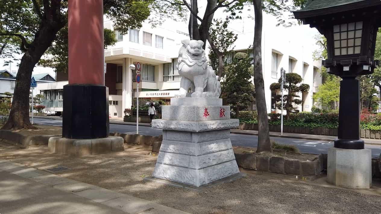 武蔵一宮氷川神社狛犬