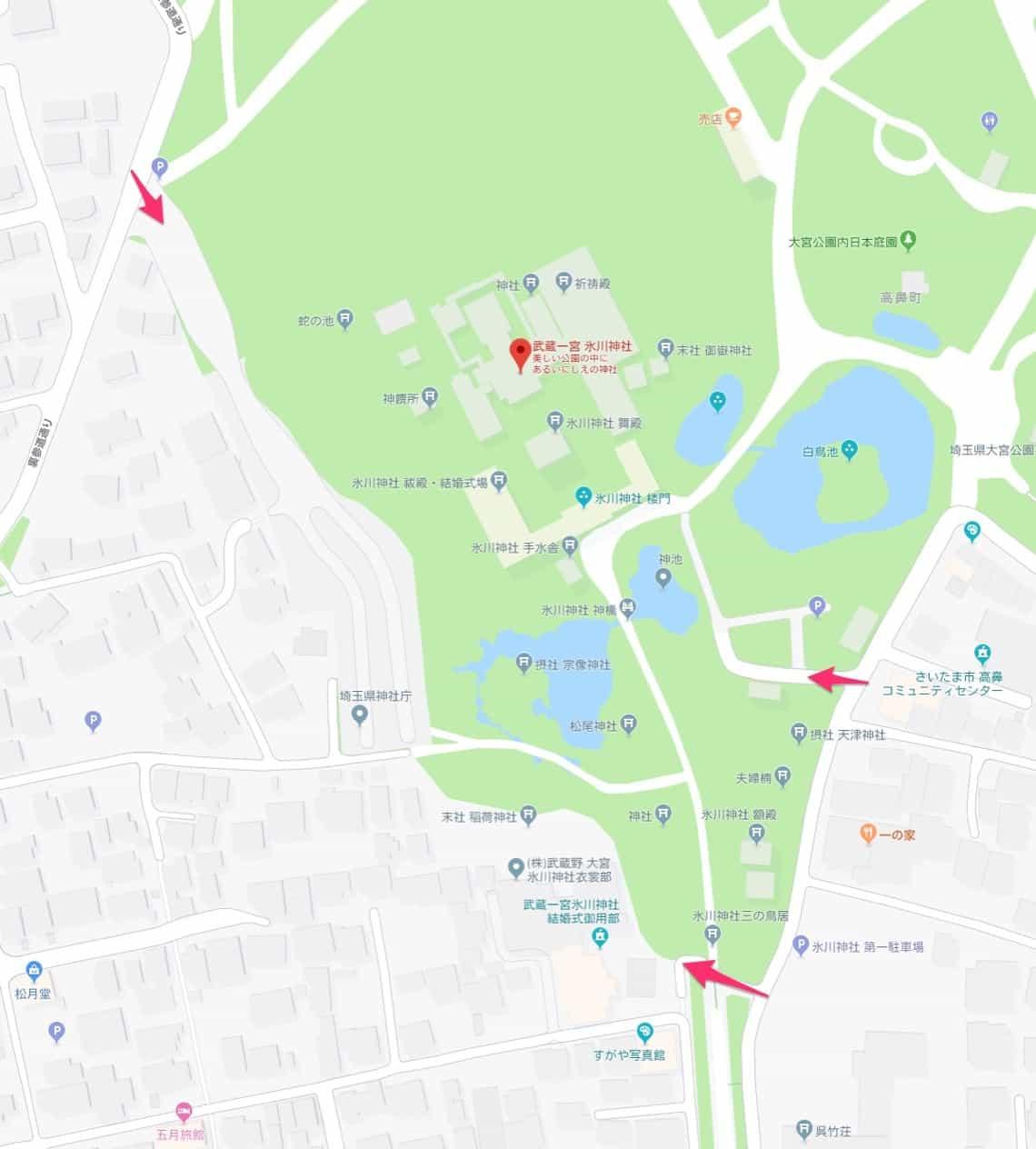 武蔵一宮氷川神社無料駐車場
