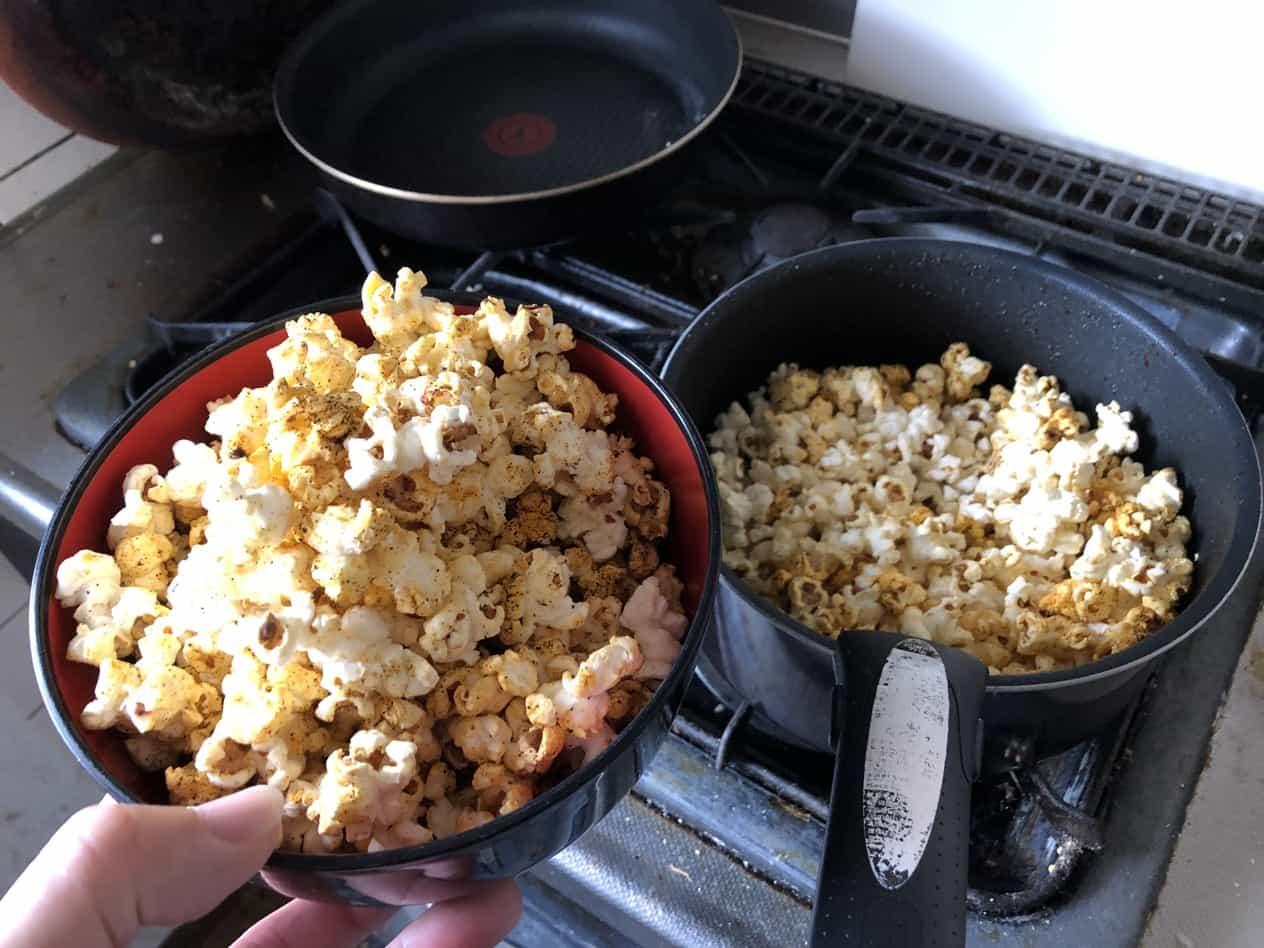 ドンキの業務用ポップアップ豆とシーズニング