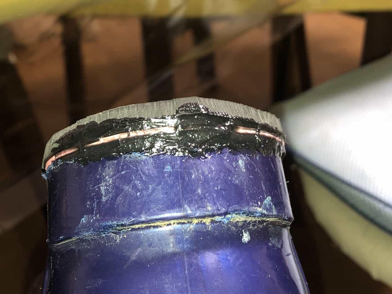 スキーブーツの踵が壊れていたときの一週間前の対処